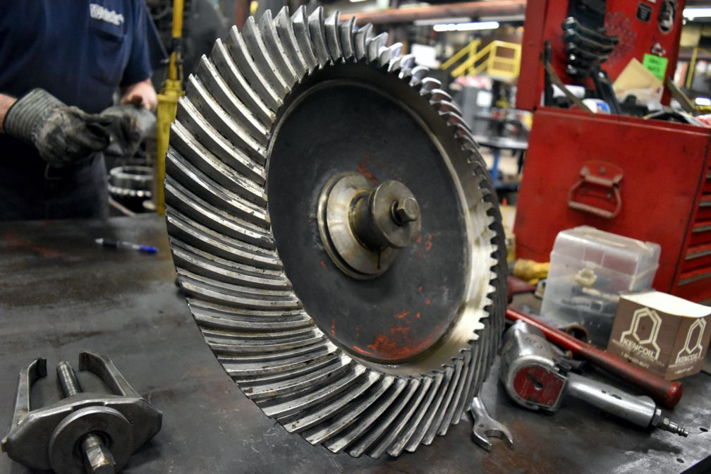 Bodine Electric of Danville repair gear reducers/drives, including helical, herringbone and worm gear.
